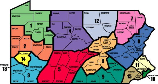 PSBA Region Map