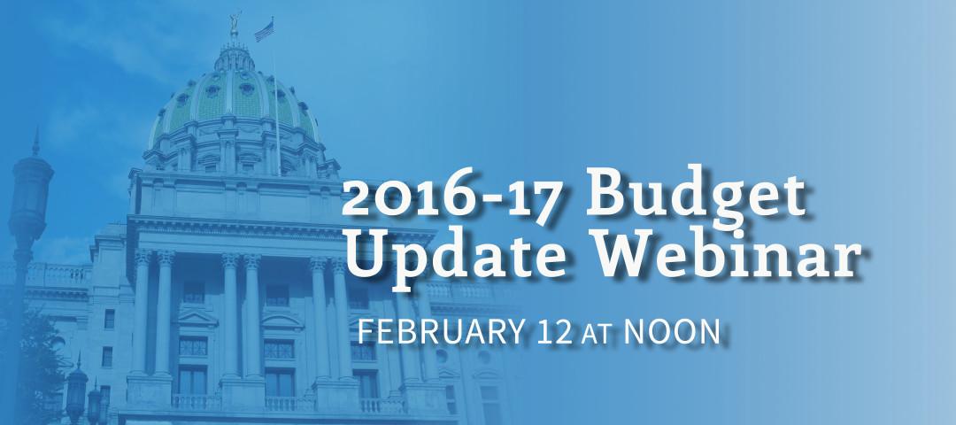 budget update webinar-021016