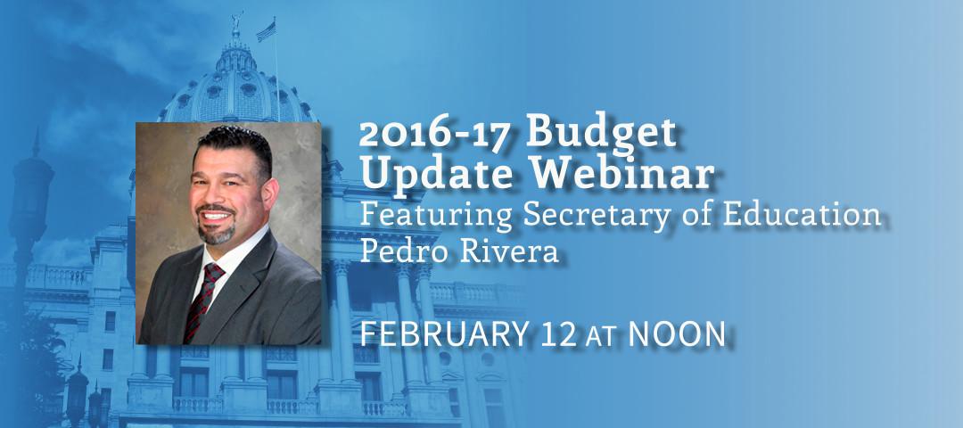 budget update webinar 2016