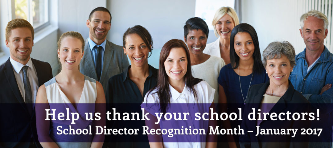 slider for school director recognition month