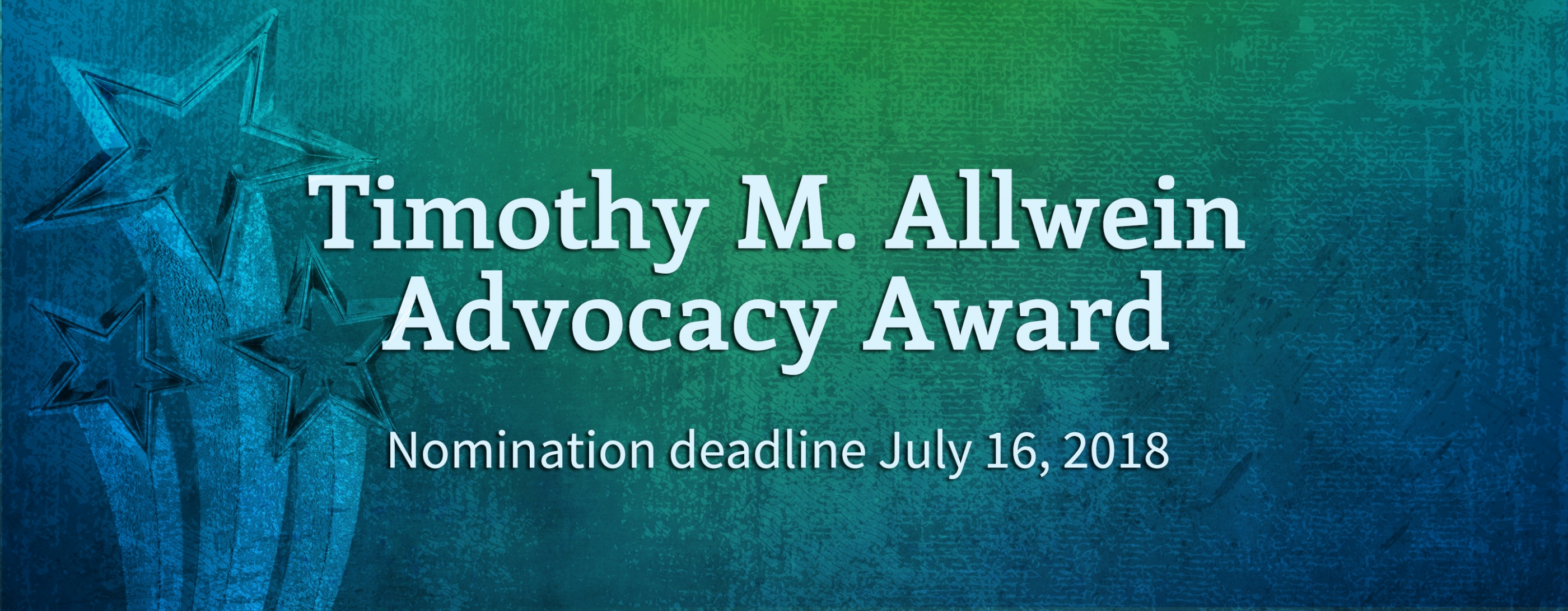 Nominations for Allwein Award