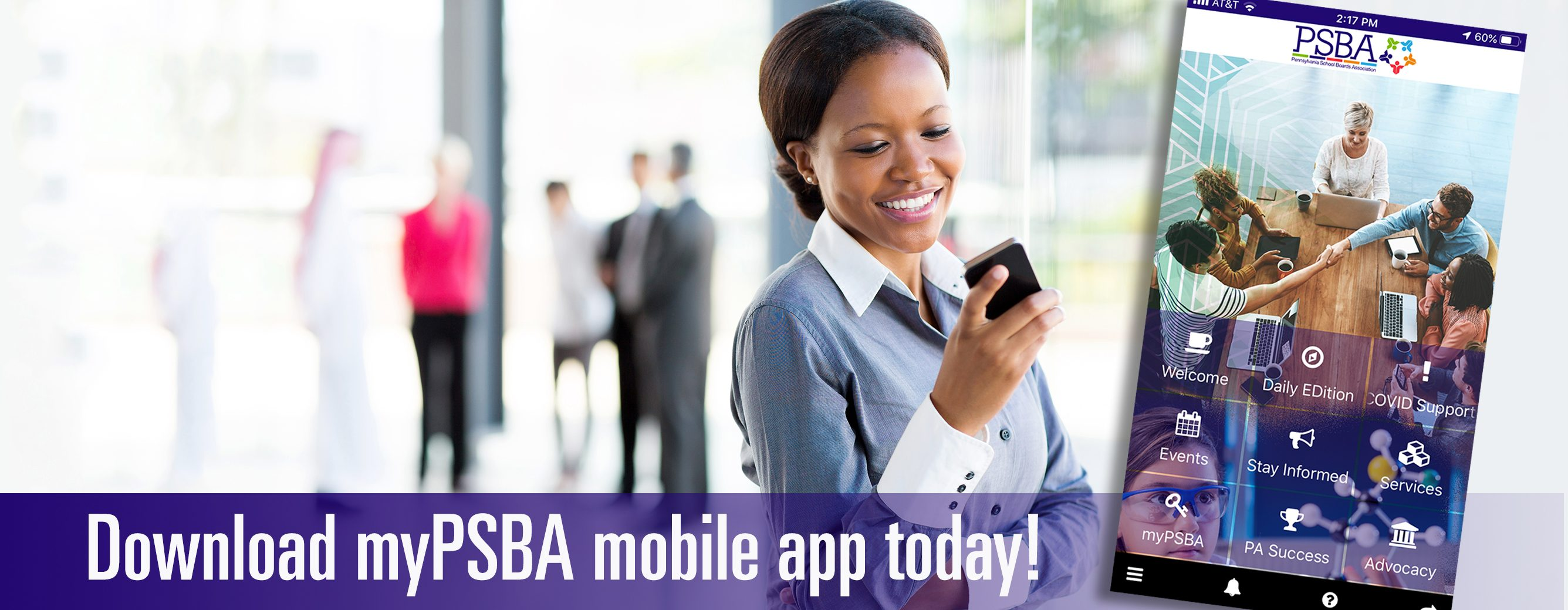 Download the myPSBA mobile app