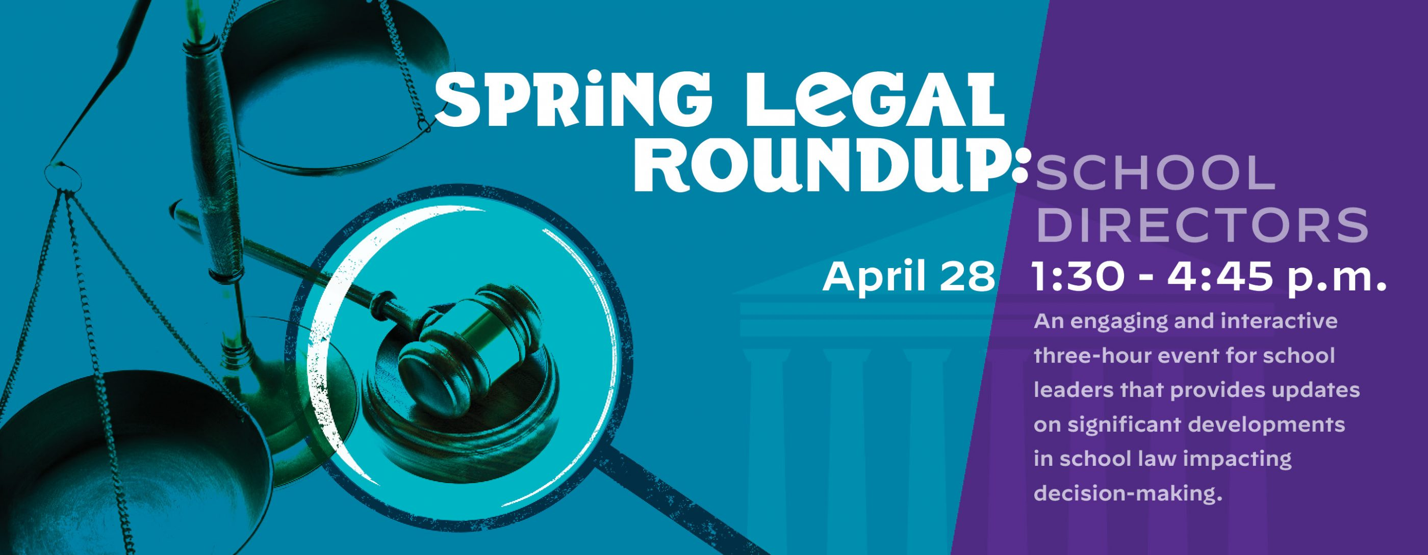 Register for Spring Legal Roundup: School Directors
